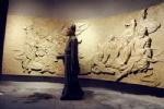 弧形浮雕墙